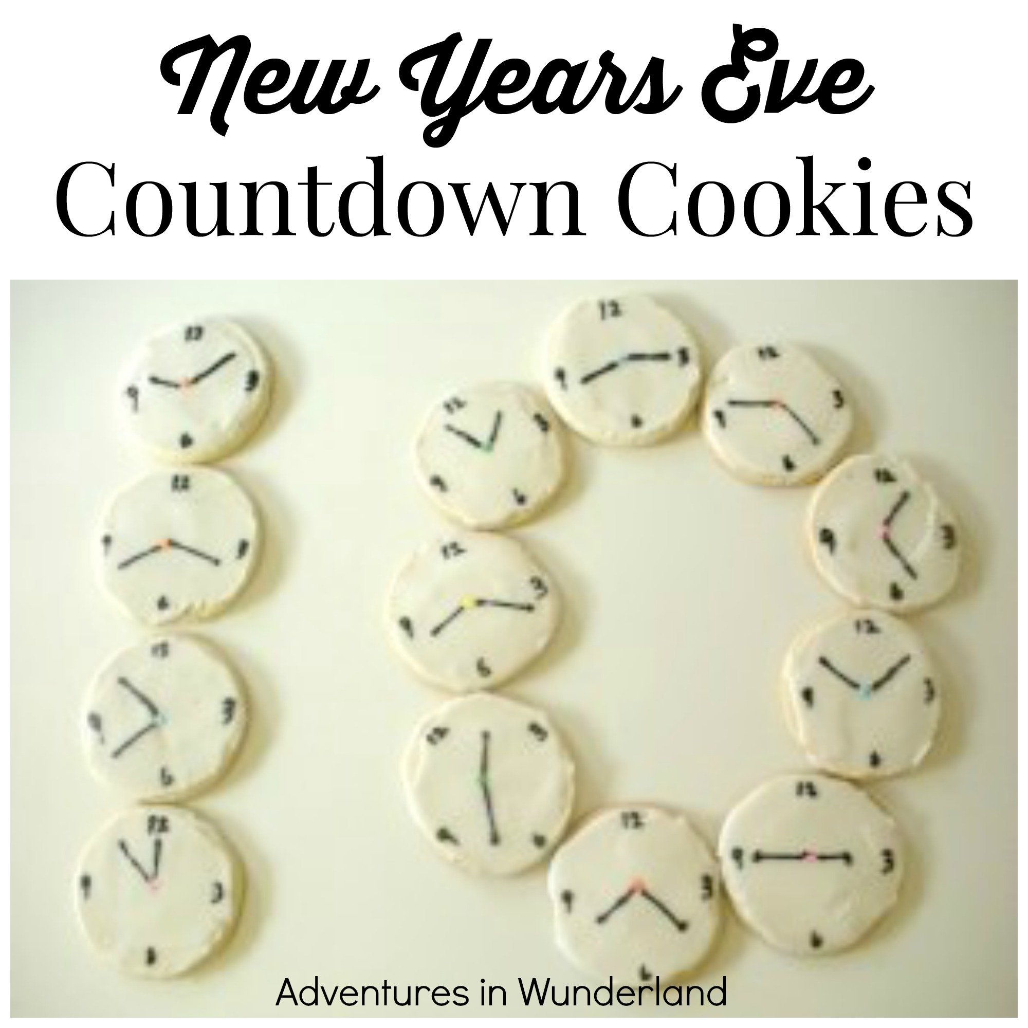 New Years Eve Countdown Cookies