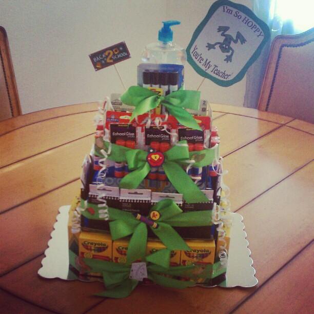 DIY School Supply Cake