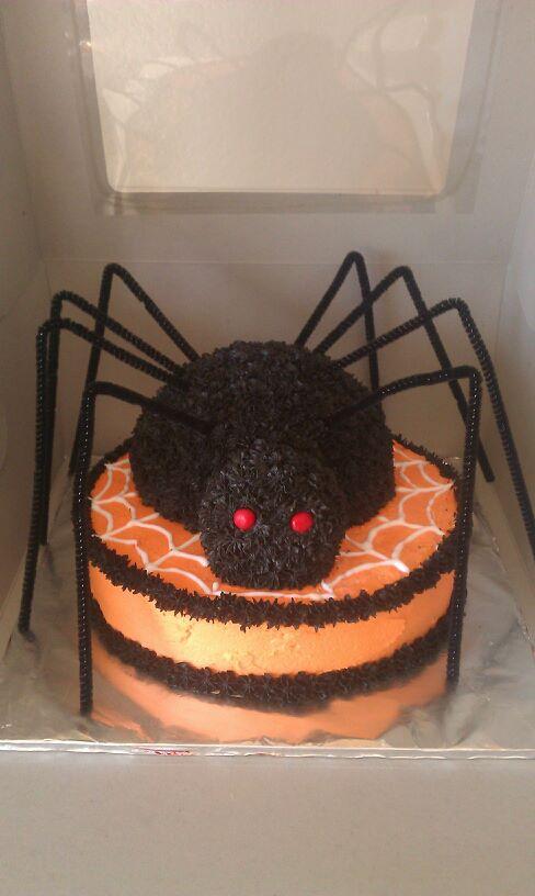 Spooky Spider Halloween Cake