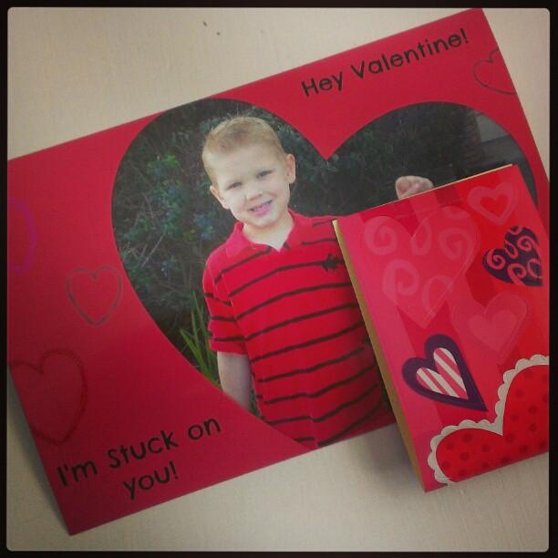 Valentine with stickers