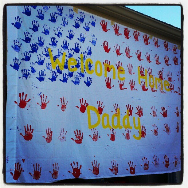 Handprint American Flag Banner