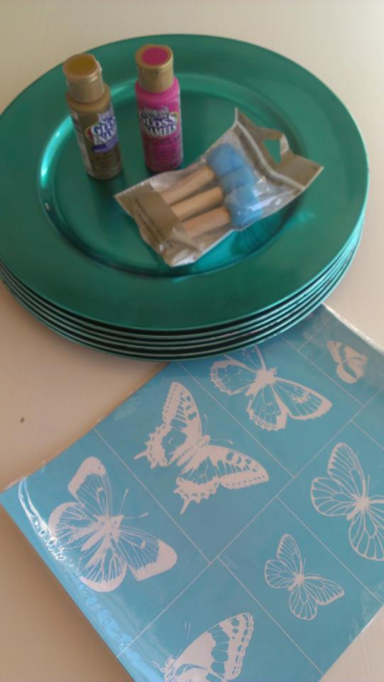 DIY Stenciled Plates