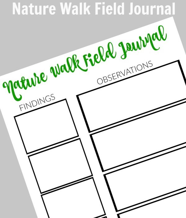 Earth Day Nature Walk with FREE Printable Field Journal