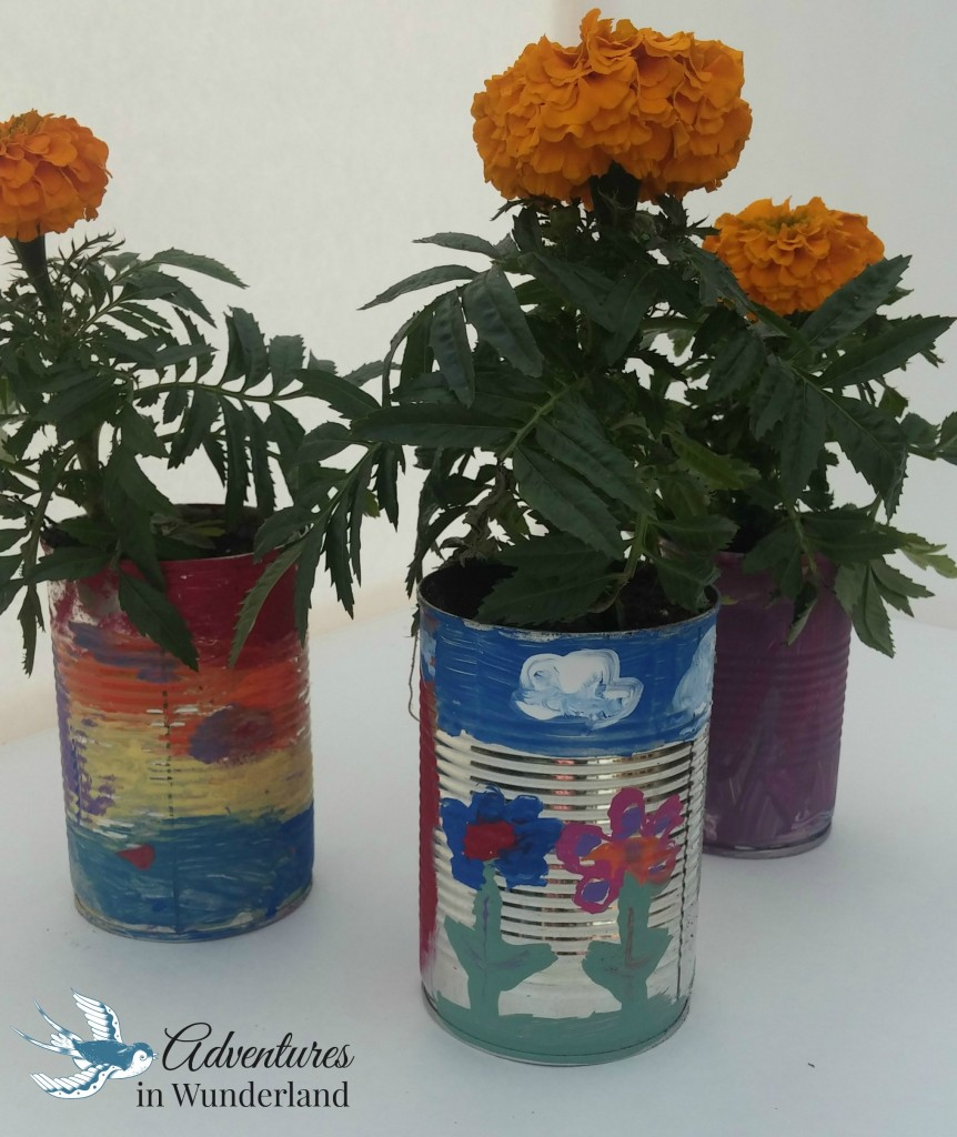 soup can flower pots