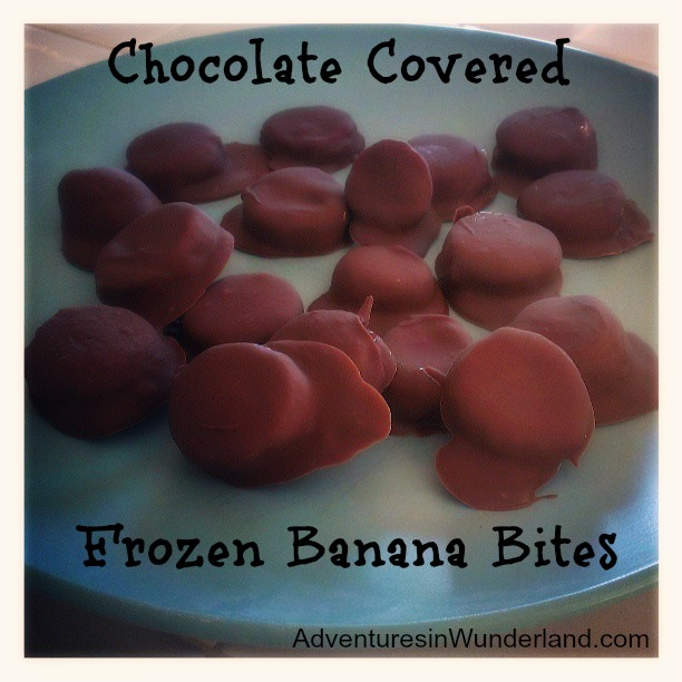 Chocolate Covered Frozen Banana Bites