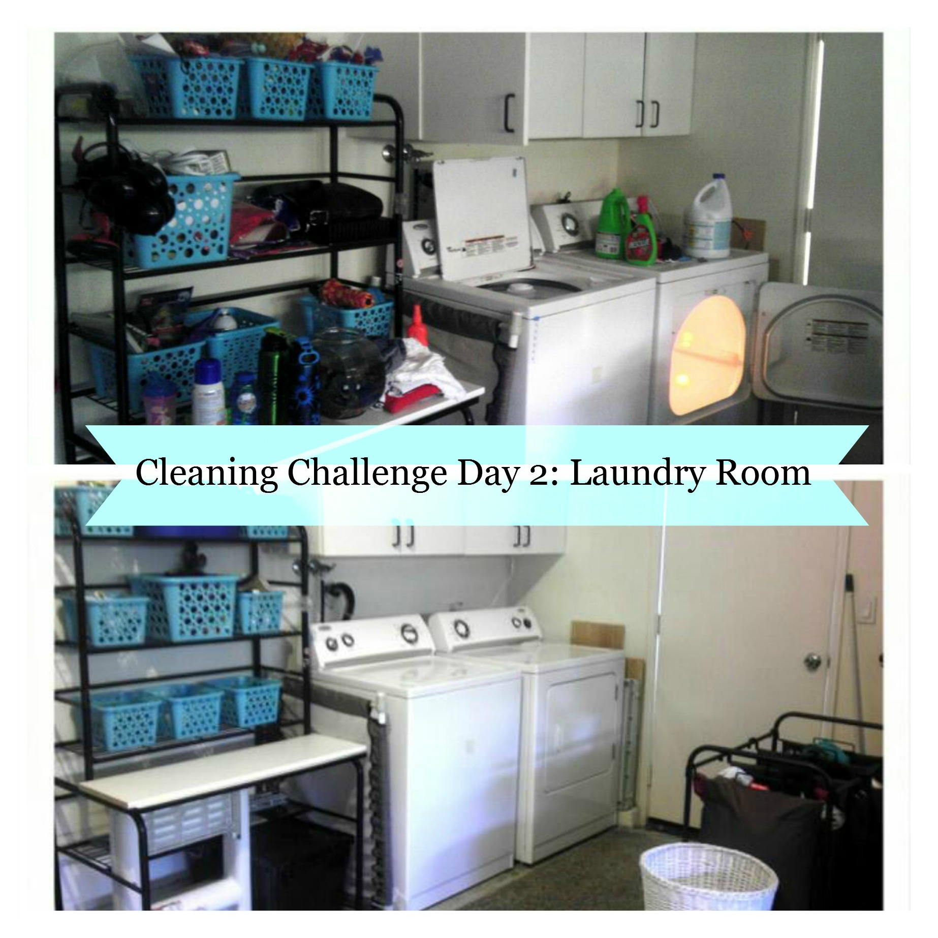 Laundry Room Cleaning and Organization