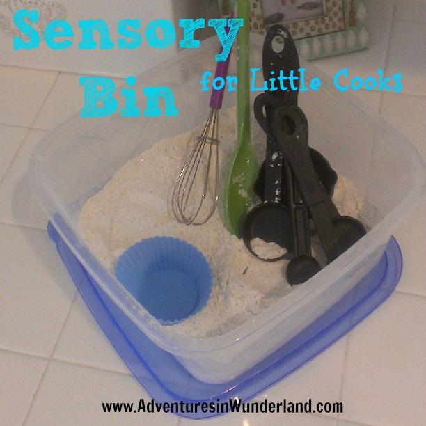 Sensory Bin for Little Cooks