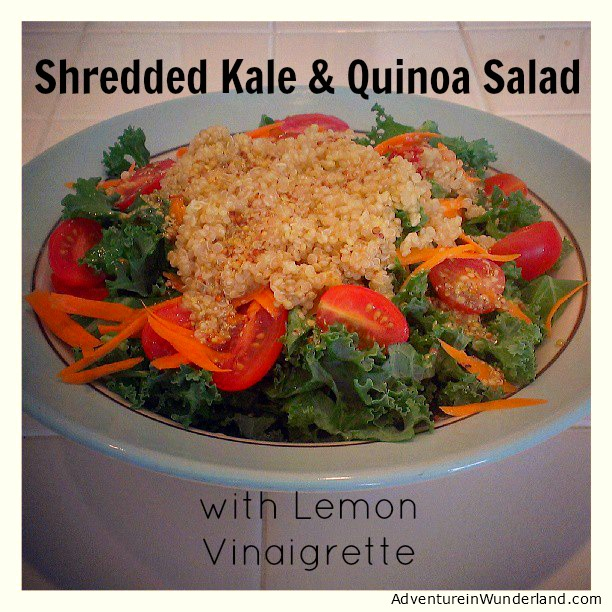 Shredded Kale and Quinoa Salad with Lemon Vinaigrette