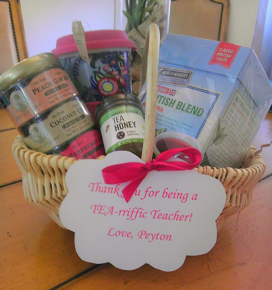 Teacher Appreciation Gift – Tea Basket
