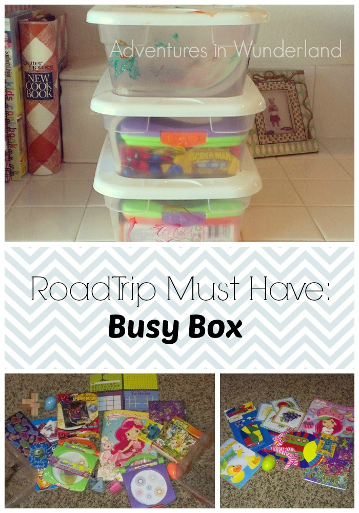 Busy Box for Road Trips with Kids