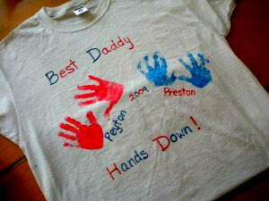 Hand Print T-shirt Father's Day Gift
