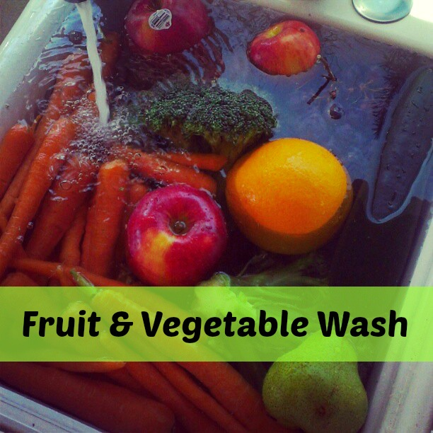 Easy, Natural Fruit and Vegetable Wash