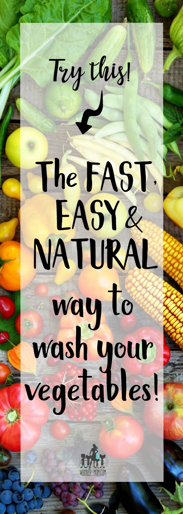 natural vegetable wash