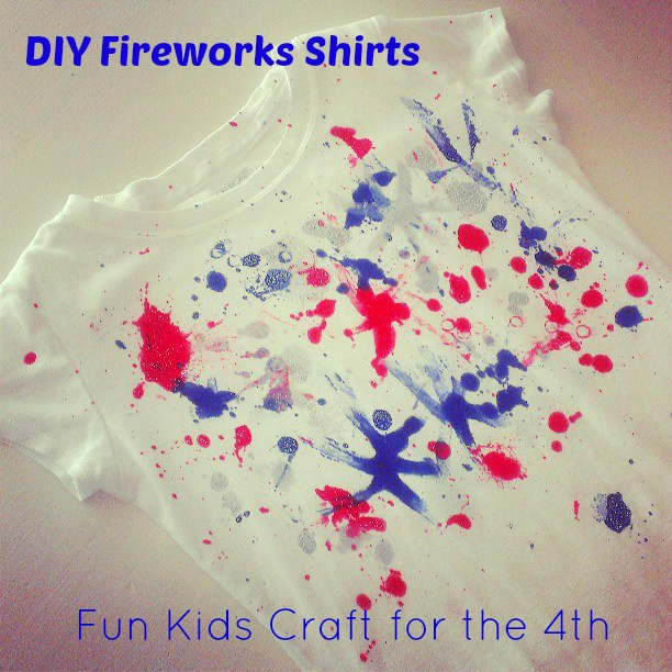 DIY Fireworks Shirt for the 4th of July