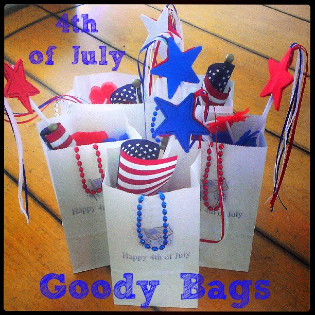Pre-Fireworks Goody Bags for the 4th of July