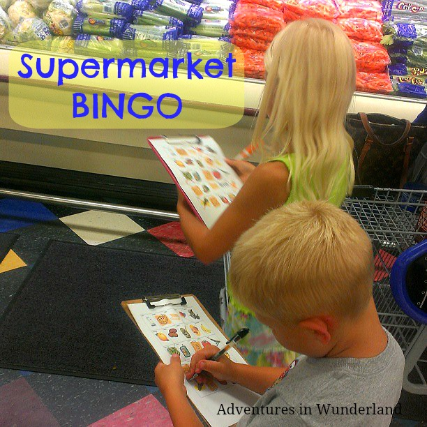 Supermarket BINGO: Entertain the kids and keep grocery shopping stress free **Printable Included**