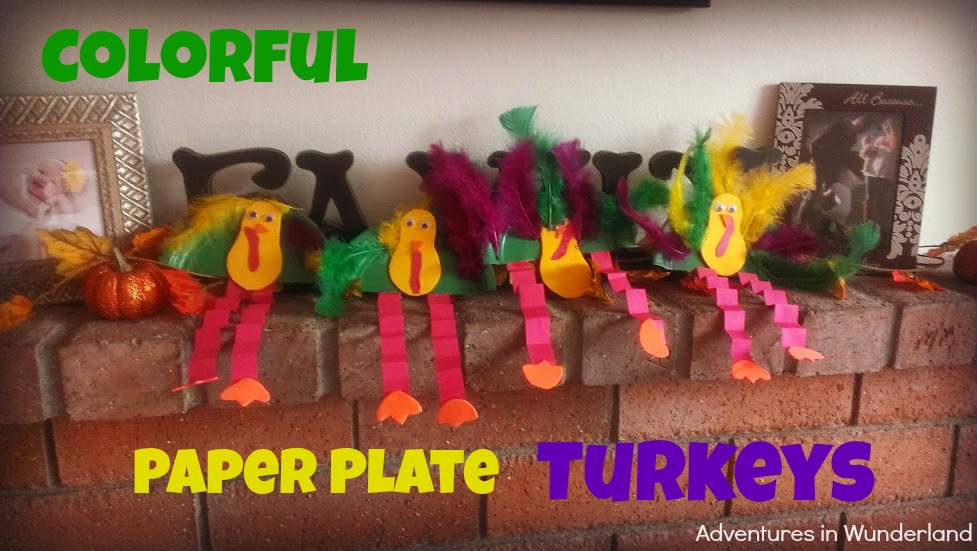 Colorful Paper Plate Turkeys