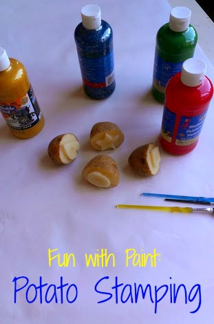 Fun with Paint:  Potato Stamps