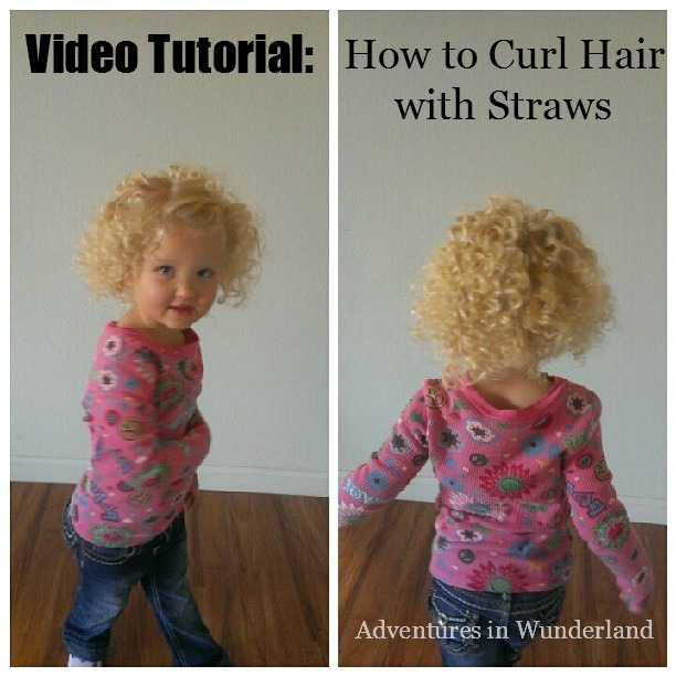 Video Tutorial:  How to Curl Hair with Straws