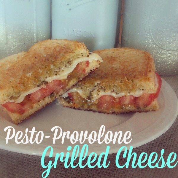 Pesto-Provolone Grilled Cheese Sandwich