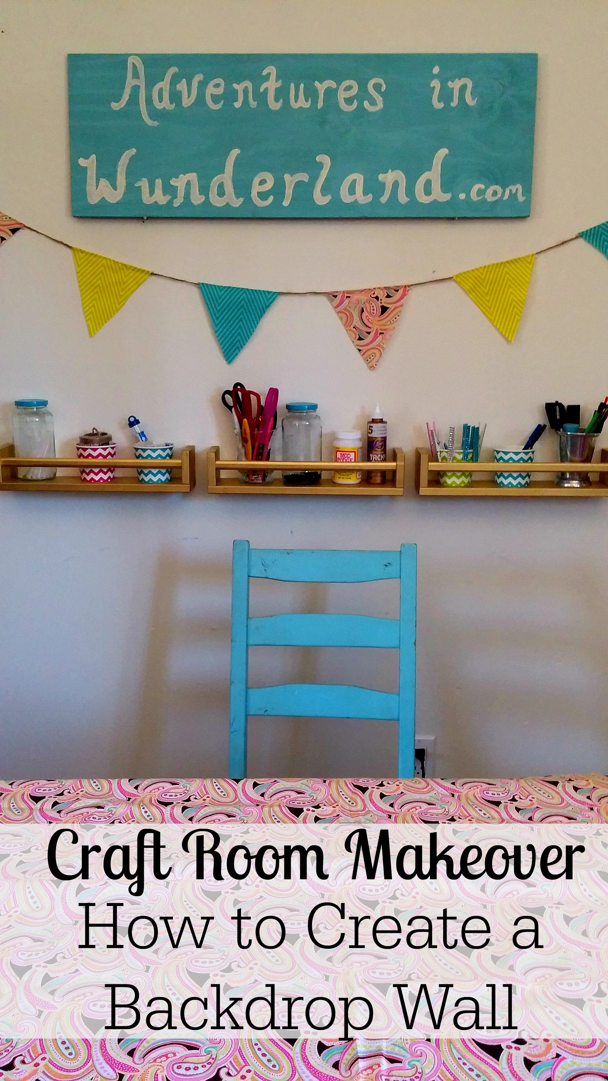 Craft Room Makeover: How to create a backdrop wall