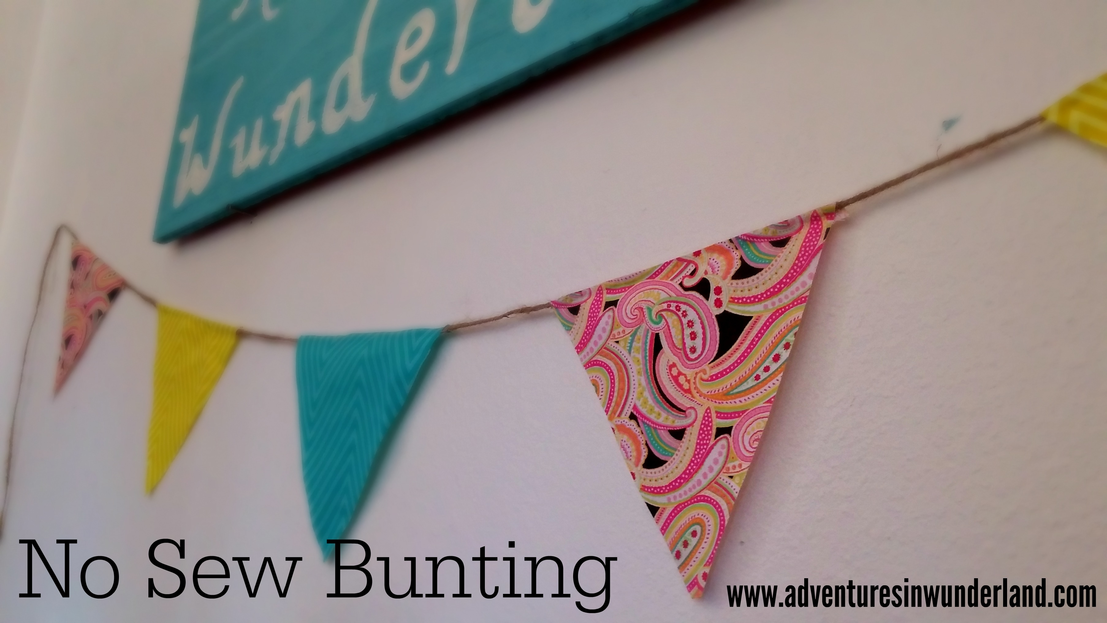 No Sew Bunting Tutorial