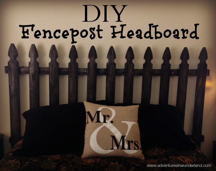 DIY Fencepost Headboard