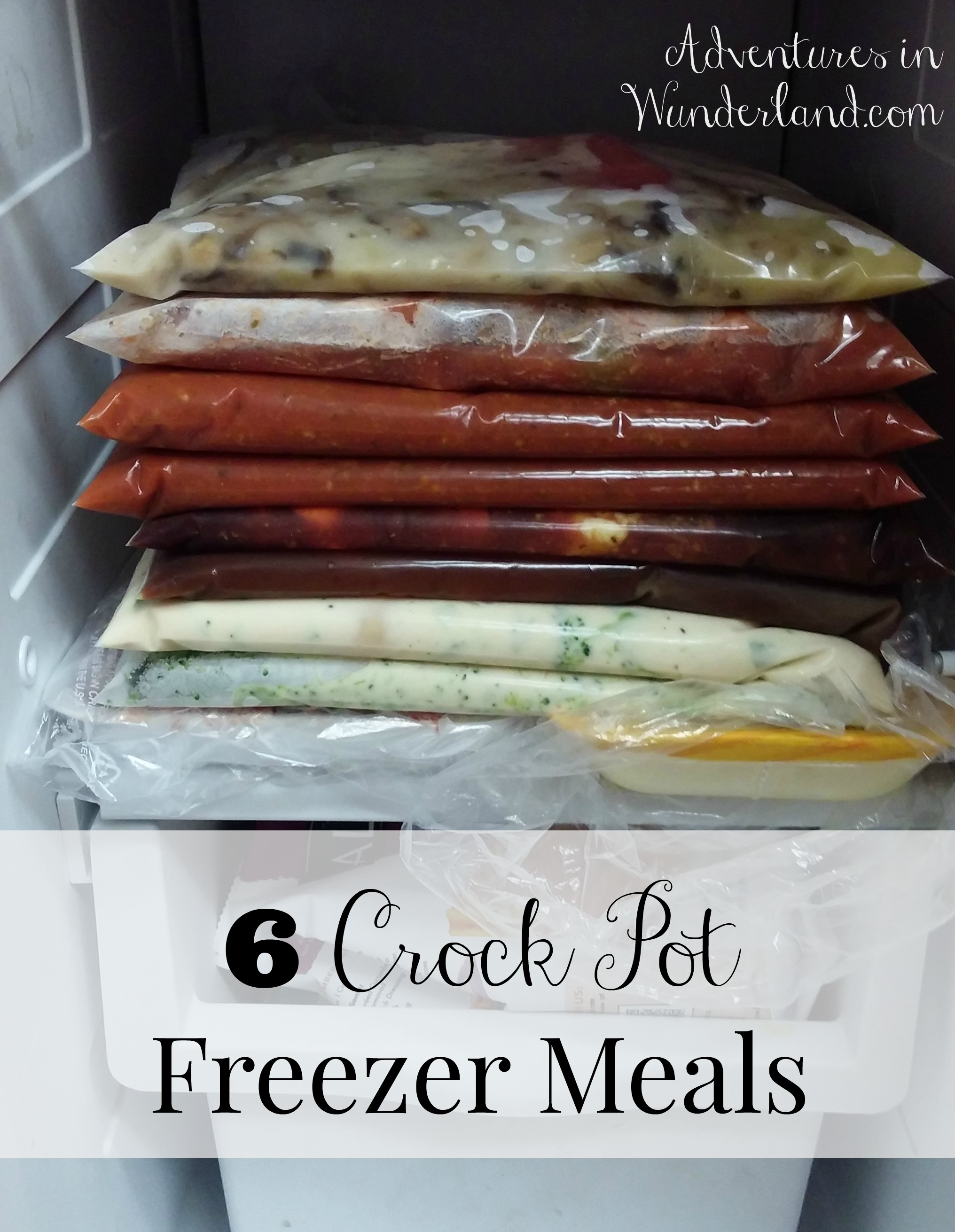 6 Crock Pot Freezer Meals