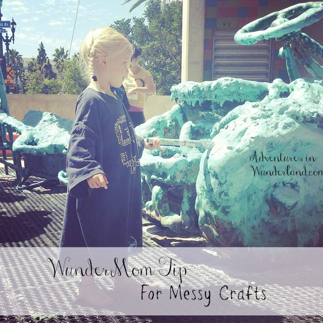 Mom Tip:  Keep Messy Crafts Off Kids Clothes