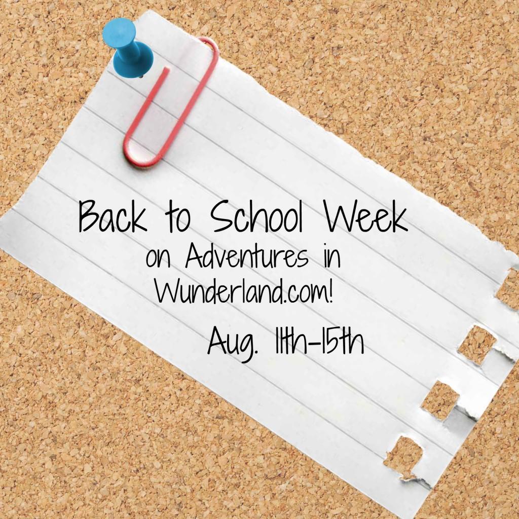 BacktoSchoolWeek