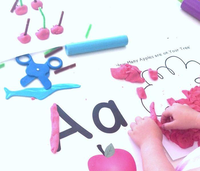 All About Apples:  Preschool Playdough Unit