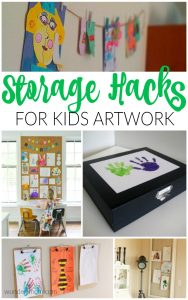 artwork storage organization hacks