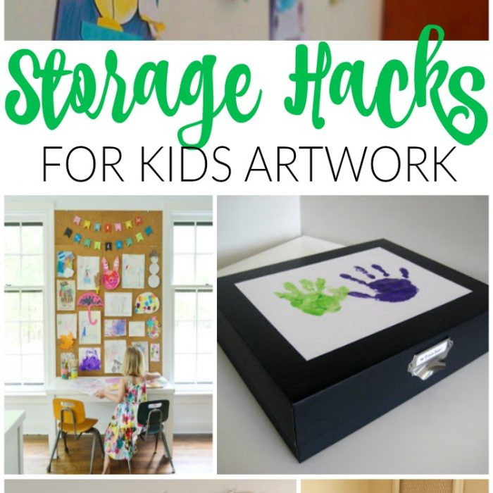 Genius Storage Hacks for Kids Artwork