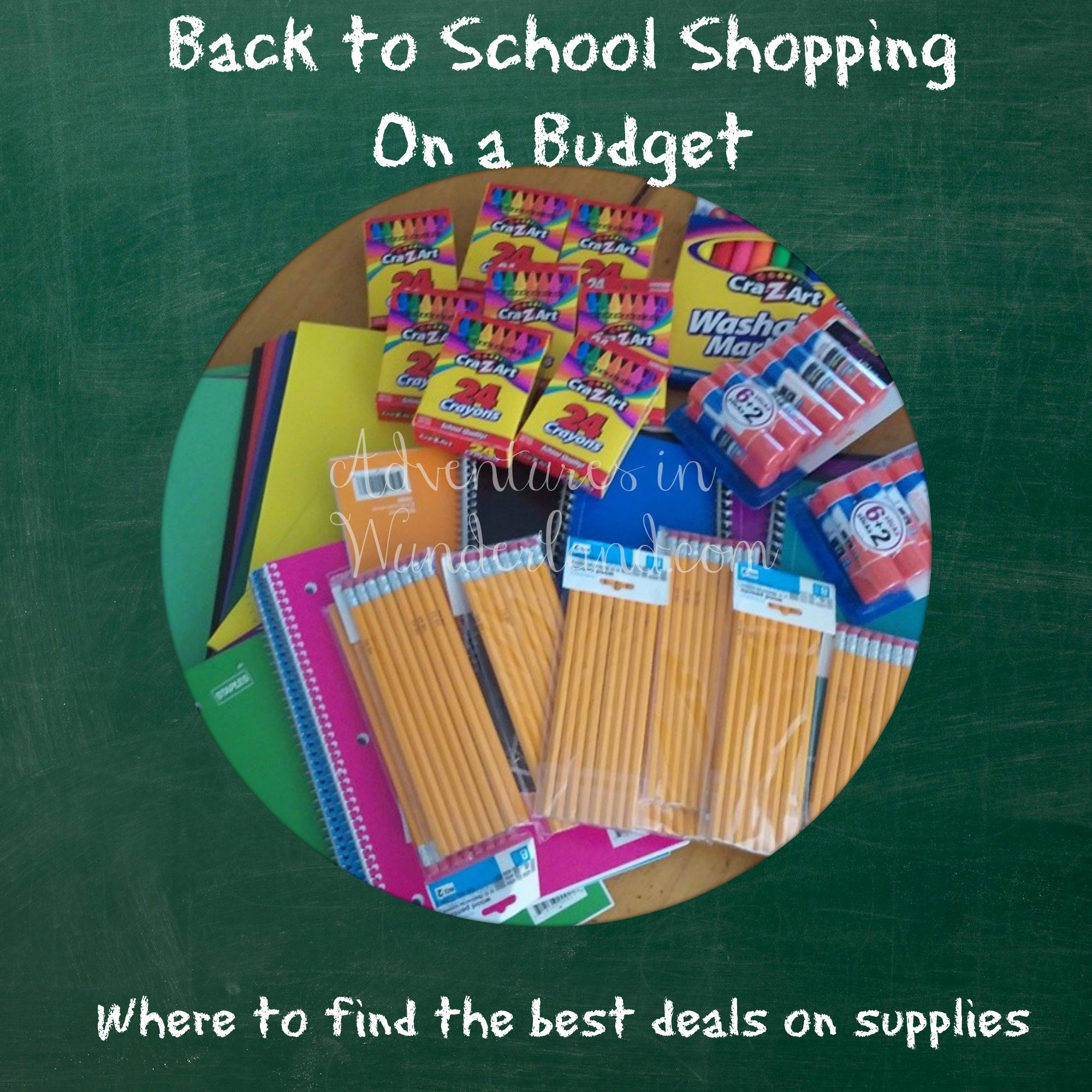 Back to School Shopping on a Budget~Where to find the best deals on supplies