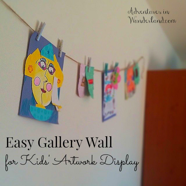 Easy Gallery Wall for Kids Artwork Display