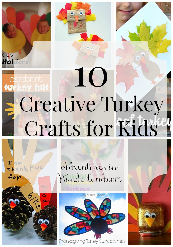 10 Creative Turkey Crafts for Kids