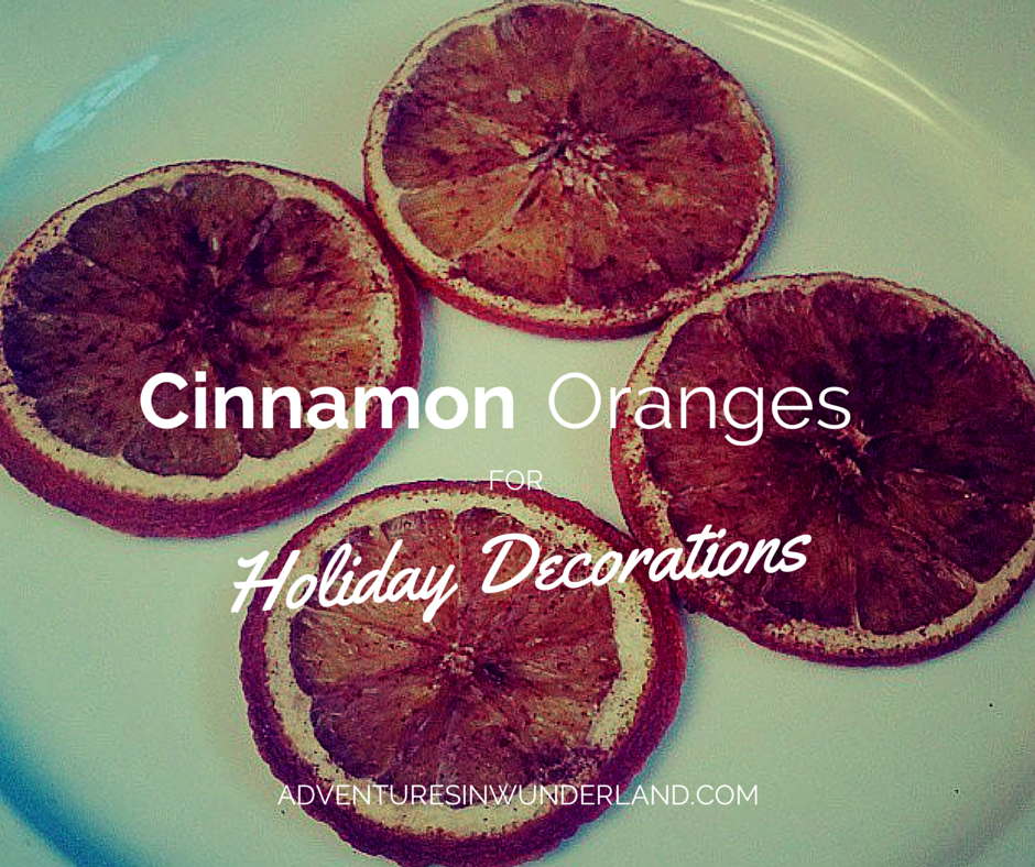 Cinnamon Oranges for Holiday Decorations