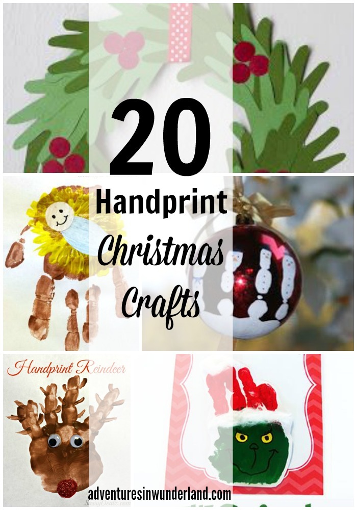hand print christmas crafts