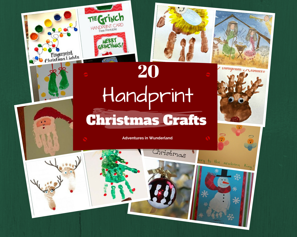Handprint Christmas Crafts