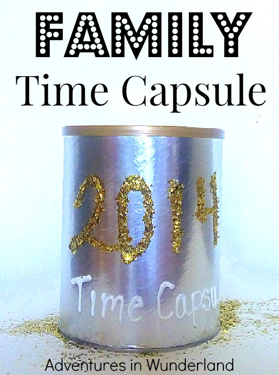 Family Time Capsule for New Years Eve