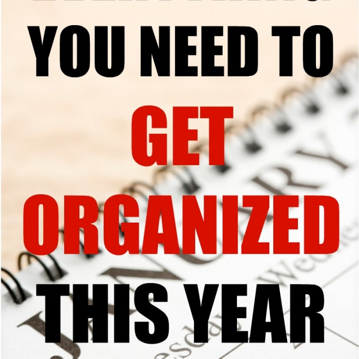 Everything You Need to Get Organized This Year