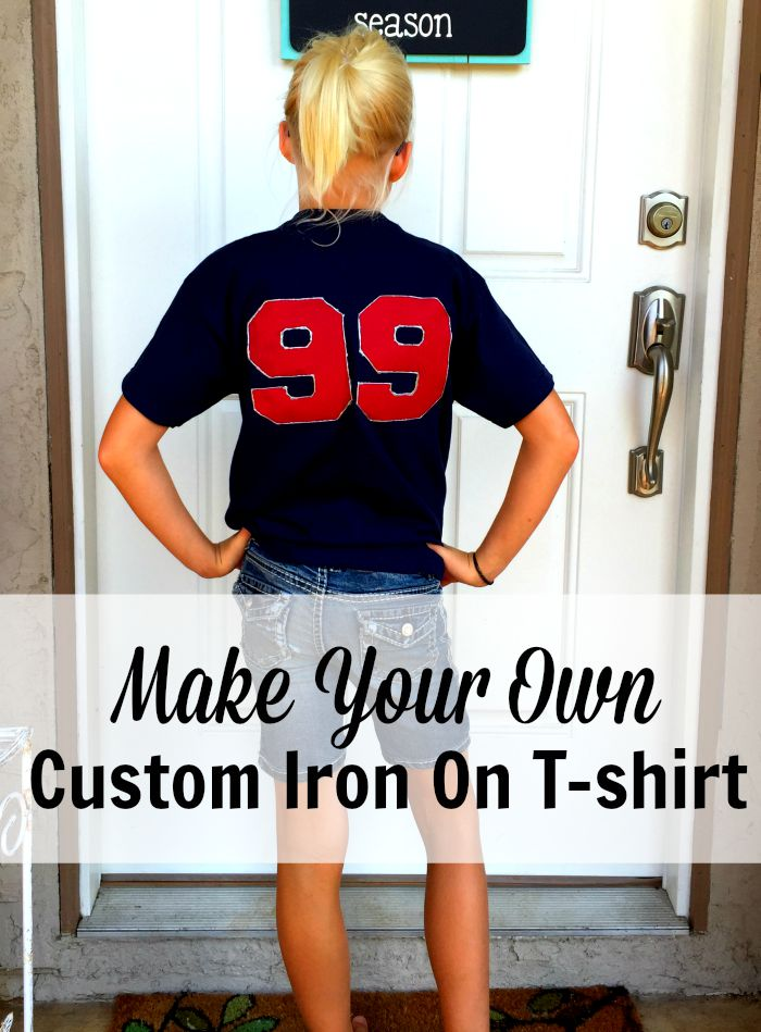 Make Your Own Custom Iron On for T-shirts