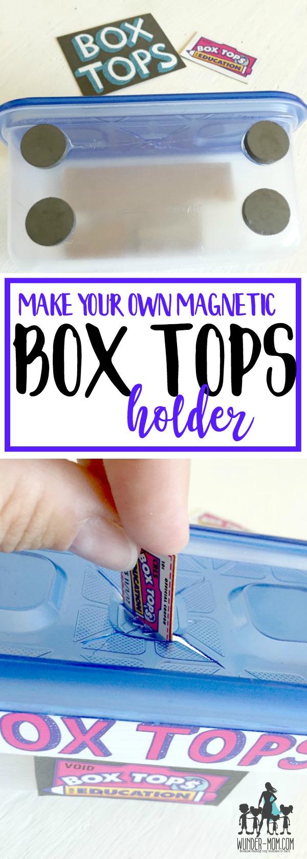 BOX TOPS HOLDER