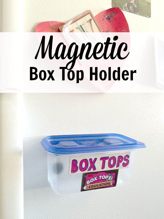 DIY Magnetic Box Top Holder