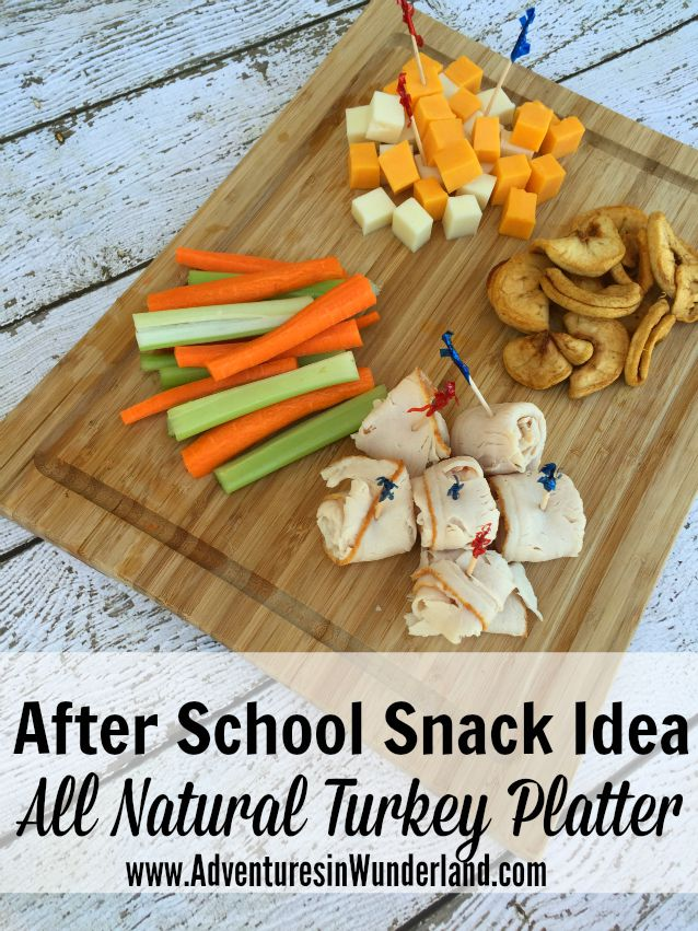 After School Snack: All Natural Turkey Platter