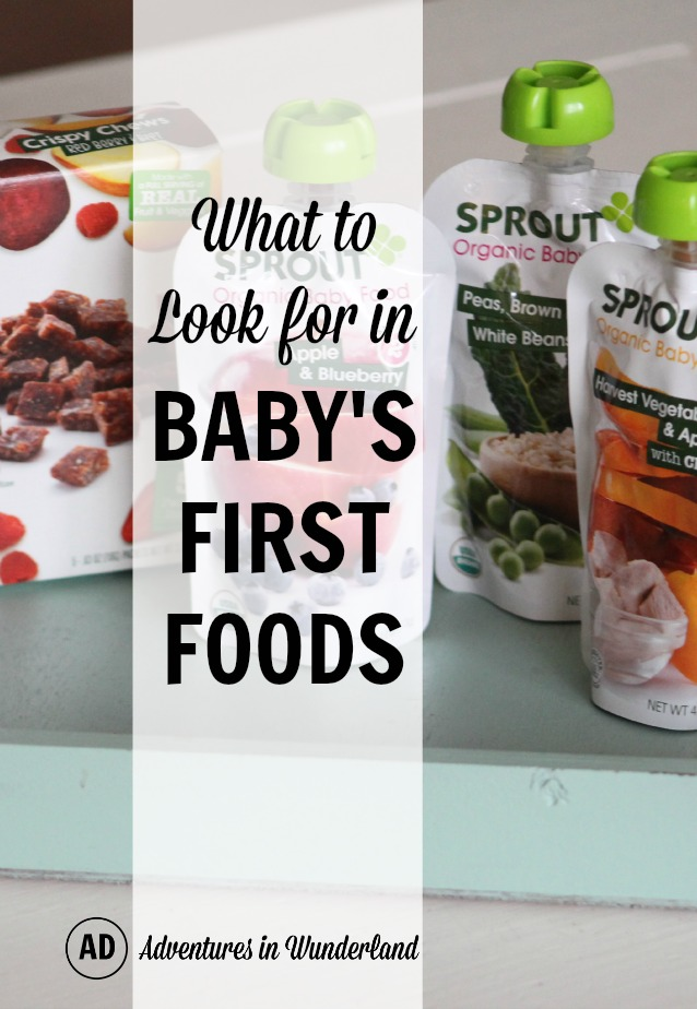 What to look for in Baby's First Foods