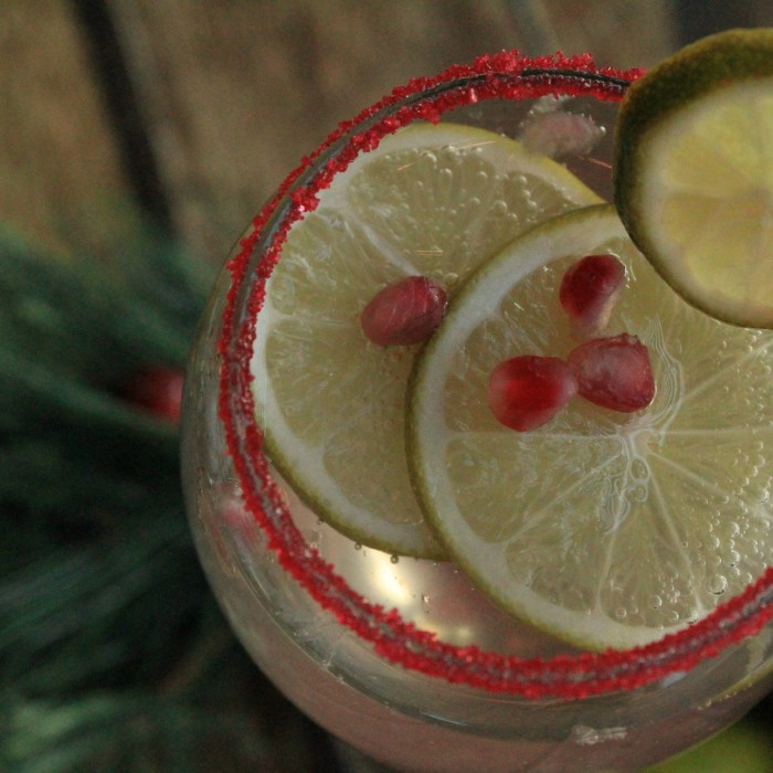 Pomegranate-Lime Christmas Sangria