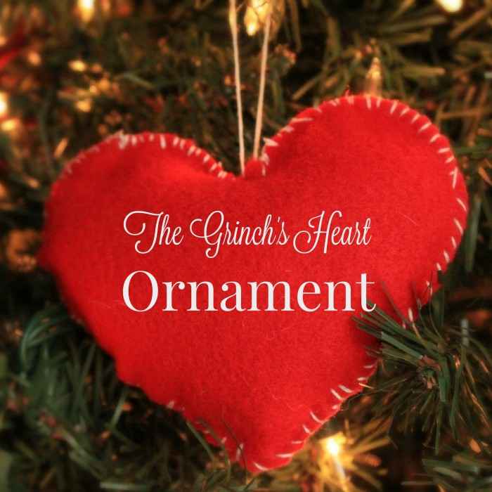 Grinch's Heart Kid Made Christmas Ornament