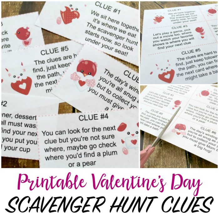 Valentine's Day Scavenger Hunt for Kids with Printable Clues