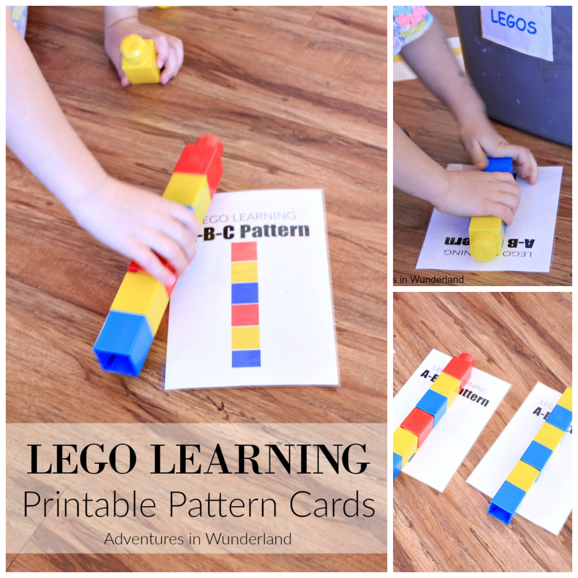 LEGO learning printable cards